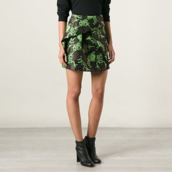 02b5d3c0 KENZO monster green black skirt mini folded